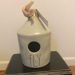 Rae Dunn Fly Birdhouse- Grey